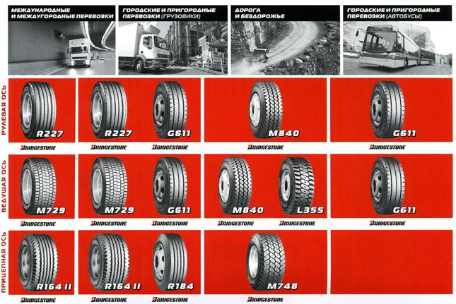 грузовые шины Bridgestone